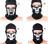 Cycling Face Mask/Mask Women's / Men's Bike Breathable / Dust Proof / Windproof / Thermal / Warm Mesh Skulls Black Free SizeLeisure