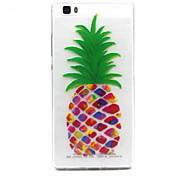 pineapple Pattern TPU Relief Back Cover Case for P8 Lite
