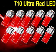 10 X Red T10 5-SMD 5050 LED INTERIOR Light bulbs W5W 2825 158 192 194 168