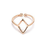Korean Style Women's Casual Fashion Silver Rose Gold Plated Ring