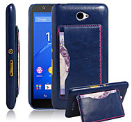 Crazy Horse Pattern Card Bracket Protective Cover Applicable To Sony Sony Xperia E4 Mobile Phone