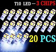 20 pc super white cuneo t10 5-SMD 5050 ha condotto la luce delle lampadine W5W 2825 158 192 168 194