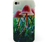 Pilzmalerei Muster TPU weiche Tasche für iPhone 4 / 4S