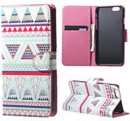 Magnet Leder-Standplatz Fallabdeckung für iphone 6 / 6S - pink Stamm