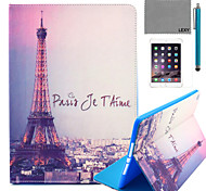 LEXY® Eiffel Tower In Night Pattern PU Leather Flip Stand Case with Screen Protector and Stylus for iPad Air/iPad 5
