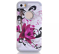 Lotus patterns High Quality Snap-on PC + Silicone Hybrid Combo Armor Case Cover for iPhone 5C(Assorted Color)