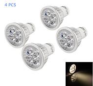 4 Stück YouOKLight Dekorativ LED Spot Lampen MR16 GU10 4W 350 LM 3000 K 4 High Power LED Warmes Weiß AC 220-240 V