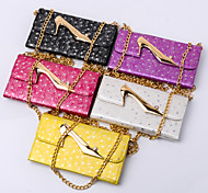 PU Metal High heels wallet Case Mobile phone for Samsung  Galaxy Note 5/Note 4 Assorted Color