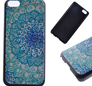 Blue Flower Pattern PC Material Phone Case for iPhone 5C