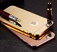 New Plating Mirror Back with Metal Frame Phone Case for iPhone 6Plus/6S Plus(Assorted Colors)