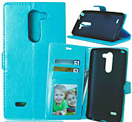 High Quality PU leather Wallet Mobile Phone Holster Case For LG G3 Stylus(Assorted Color)