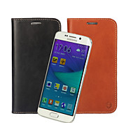 Retro Genuine Leather Flip Cover Wallet Card Slot Case Stand for Samsung Galaxy S6 / S6 edge (Assorted Colors)
