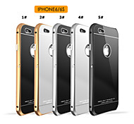 Aluminum Metal Frame Bumper Tempered Glass Back Cover Case For iPhone 6/6s