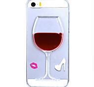 fluir padrão vidro vinho água líquida TPU caso capa Voltar para iphone 5 / 5s