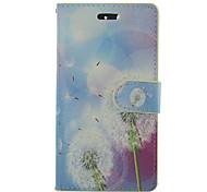 White Dandelion PU Leather Full Body Phone Case with Stand For Samsung Galaxy S3/S4/S3MINI/S4MINI/S5/S5MINI