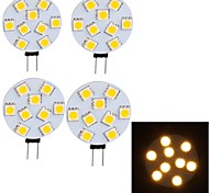 Luces LED de Rail Decorativa YouOKLight G45 G4 4W 9 SMD 5050 380 LM Blanco Cálido 09.30 V 4 piezas