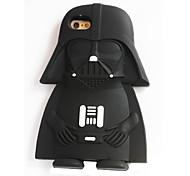 rocs silicium 3d chevalier noir arrière pour iPhone 6 / 6s