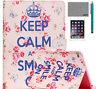 LEXY® Keep Calm Pattern PU Leather Flip Stand Case with Screen Protector and Stylus for iPad Mini 4