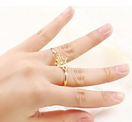 Women Ring Set European Style Hand Shape Evil Eye Multi Finger Ring(2pcs/set)