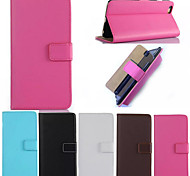 High Quality Pure Color PU Leather Full Body Cases Phone Protective Shell with Stand for iPhone 6/6S
