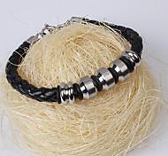 Men's Leather Wrap Bracelet