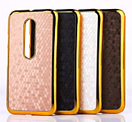 Football Grain Line Leather Metal Fdge Case Back Cover For Motorola moto x(Assorted Color)