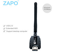 W60 (2DB antenna) wall type high power 300M USB wireless network card transmitter