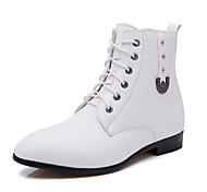 Men's Shoes Outdoor / Office & Career / Casual Leather Boots Black / White