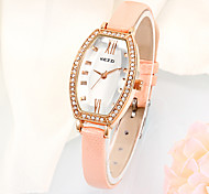 Women With Elegant Romantic White Quartz Dial Faces Waterproof Leather Strap Watch Cool Watches Unique Watches