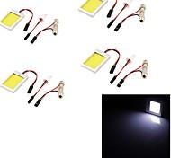 youoklight® 4pcs T10 festón 12w 1100lm 6000k luz blanca llevó la luz de bulbo del coche (12v)