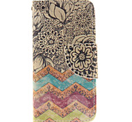 Flowers Design PU Leather Full Body Case with Card Slot and Stand TPU Cover for iPod Touch 5