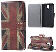 Vintage UK Flag Wallet Leather Stand Case for BLU Life X8
