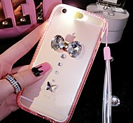 Incoming Call Flash  Diamond Bumper Frame  Back Cover for iPhone 6/6S (Assorted Colors)