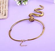 Charm Jewelry Chain Serpentine Pendant Choker Necklace
