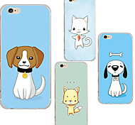 MAYCARI® Cute Pets Transparent Soft TPU Back Case for iPhone 6/iphone 6S(Assorted Color)