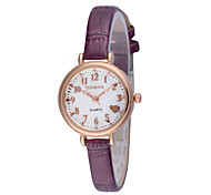 Women's Lovely  Love Water Resistant Round Dial PU Band Quartz Analog Wrist Watch(Assorted Color)