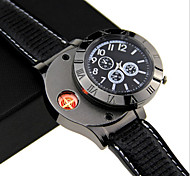 New Military USB Lighter Watch Men's Casual Quartz Wristwatches Windproof Flameless Cigarette Cigar Lighter With Box Cool Watch Unique Watch