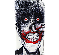Human skeleton Pattern PU Leather Case with Money Holder Card Slot for Wiko Lenny