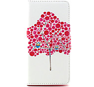Owl tree Pattern PU Leather Case with Money Holder Card Slot for BQ Aquaris E5