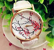 Fashion Female Watches Plum Flower Womens Watches Quartz Students Watch