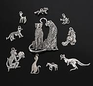 Beadia Antique Silver Metal Charm Pendants Animal Shape DIY Jewelry Pendant