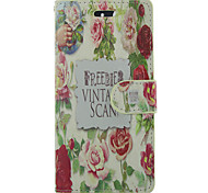 Flowers PU Leather Full Body Case with Card Slot For Samsung Galaxy S3/S4/S3MINI/S4MINI/S5/S5MINI