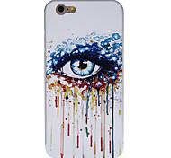 kühle bunte Augenmuster pc rückseitige Abdeckung mit Silber-Metallic-Bumper für iPhone 6