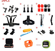 Accessori GoPro Accessori KitPer-Action cam,Gopro Hero 2 / GoPro Hero 5 / Gopro Hero 4 Session Universali *(14pcs)Altro / Nylon /