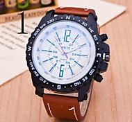 Men's  Watch WEITE Business Casual Quartz Strap Watch