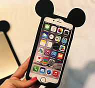Cute 3D Cartoon Lovely Mouse Ear Soft Silicone Gel Bumper for iPhone 6s 6 Plus