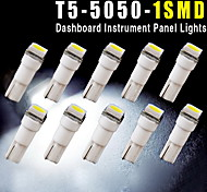 10PCS Car T5 5050 1SMD Wedge Xenon WHITE LED Light Bulbs 74 17 18 37 70 2721