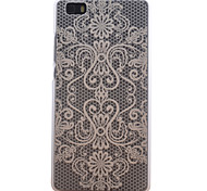 Palace Flower Pattern Transparent Frosted PC Material Cell Phone Case for Huawei P8 Lite