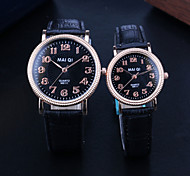 New Arrival Fashion Roman Number Quartz Couple Watches