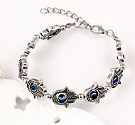 Fashion Women European Style Evil Eye Hand Bracelet(Random Color)
